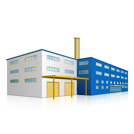 Fabrikgebäude mit Büros, Produktionsstätten und Reflexion