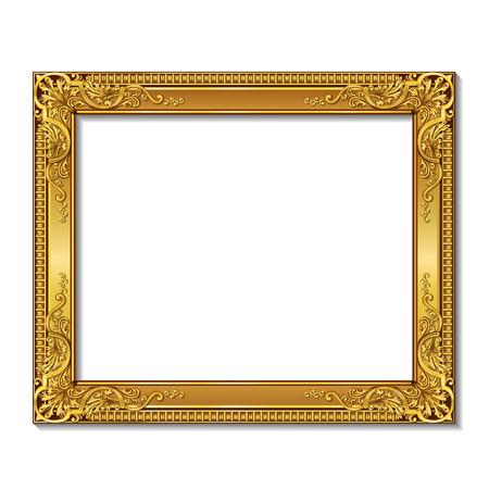 shadowon ホワイト バック グラウンドを持つフレーム ゴールド色