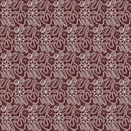 womanly: seamless pattern with white flowers on a vinous background Illustration