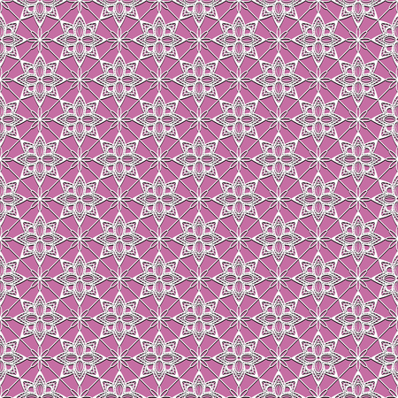 womanly: seamless pattern with white flowers on a pink background
