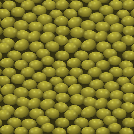 seamless pattern with green olives on a dark background