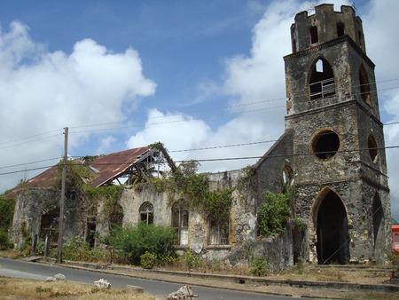 church ruins: Church ruins in Grenville, Grenada, Caribbean