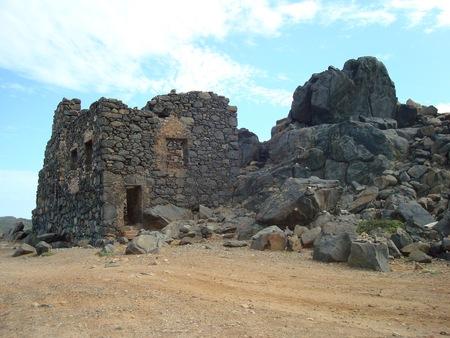 smelter: Bushiribana gold smelter ruins, north coast, Aruba, Caribbean