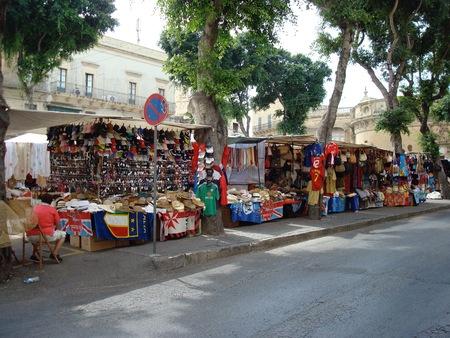 屋外の市場マーケット スクエア、ビクトリア ラバト、ゴゾ島、マルタ、ヨーロッパで