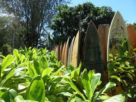サーフボード フェンス、マウイ島、ハワイ、アメリカ合衆国