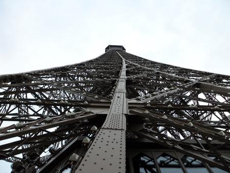 metalwork: Eiffel Tower metalwork, Paris, France, Europe