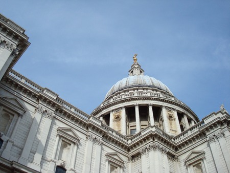 st pauls cathedral: St. Pauls Cathedral dome, London, England, United Kingdom