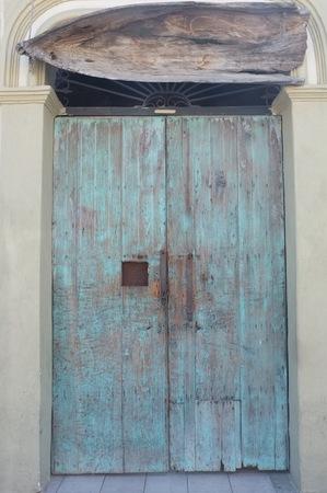 ドア、サン ホセ デル カボ, バハ カリフォルニア スル、メキシコ上ボートに取付けられる