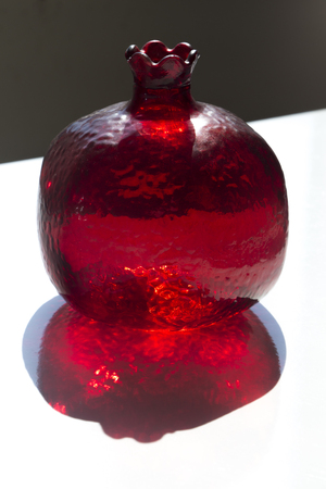 Red glass pomegranate