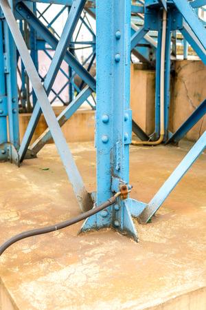 earthing: Blue bridge construction earthing