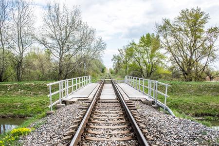 front view: Railroad bridge, front view Stock Photo