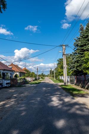 slovak: Inside small Slovak village Stock Photo