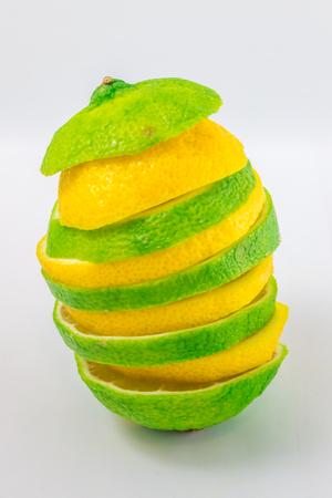 Sliced lime and lemon tower