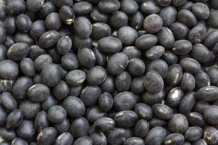 legumbres secas: Granos de Balck cerca foto de estudio para el fondo Foto de archivo