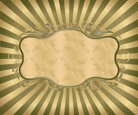 initial: Progettazione - cornice decorativa in stile retr�  Vettoriali