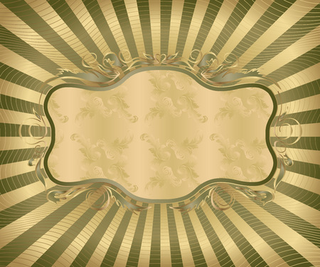 Retro styled design - decorative frame Vector