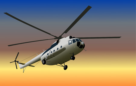 coast guard: Helic�ptero Vectores