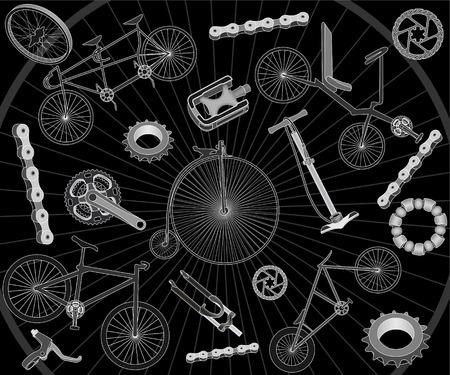 ベアリング: 自転車とスペアパーツの背景