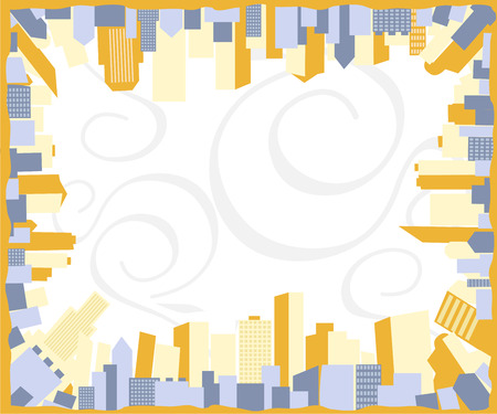 Abstract vector background with city frame Vector
