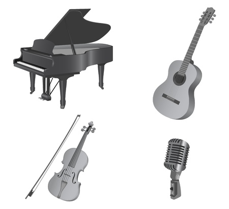 fiddlestick: Musical instruments. Isolated on white.