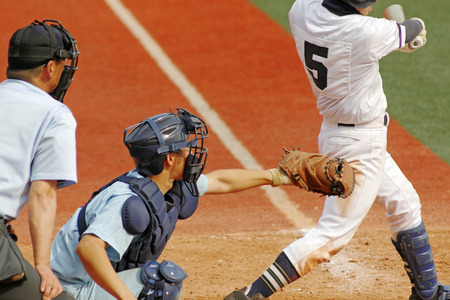 High school baseball Banque d'images