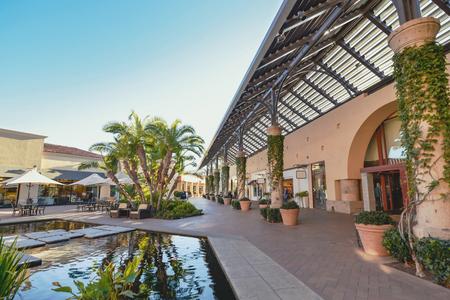 Beautiful Patio in Shopping Mall 版權商用圖片