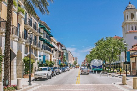 Beautiful cityscape of West Palm Beach Stock Photo