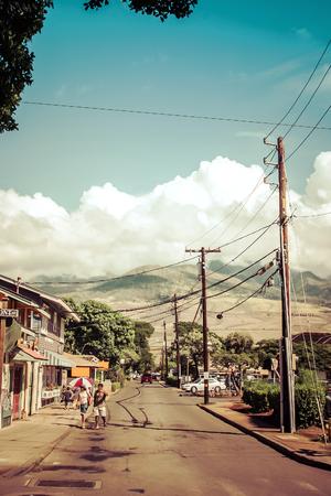 Scenery of city area in Maui island Stock Photo