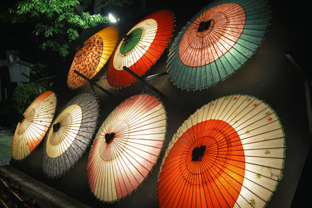 Japanse paraplu Stockfoto