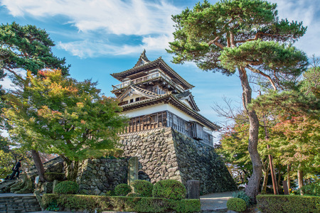 Maruoka castle in Fukui prefecture 新聞圖片