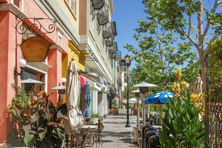 san jose: Scenery of the shopping street in San Jose Stock Photo
