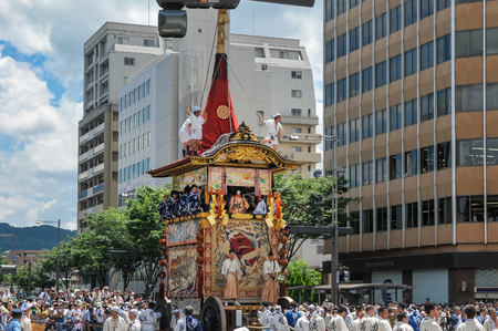 Kyoto, JAPAN-July 17, 2010: The Gion Festival Gion Matsuri takes place annually in Kyoto and is one of the most famous festivals in Japan.