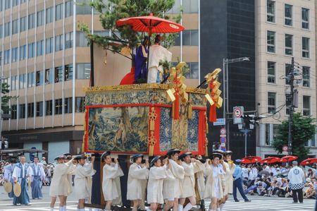 Kyoto, JAPAN-July 17, 2010: The Gion Festival Gion Matsuri takes place annually in Kyoto and is one of the most famous festivals in Japan. 新闻类图片