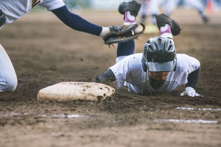 Middelbare school speler van het honkbal