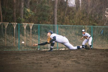 underhand: High School Baseball player