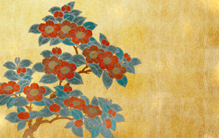 ukiyoe: Japanese style background image