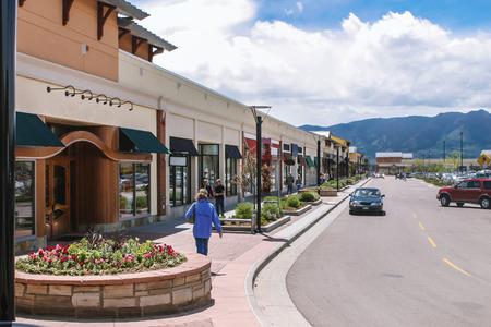 Landschap van de shopping mall Redactioneel