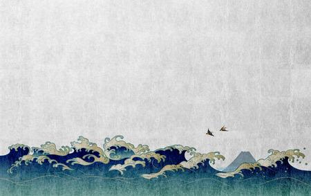 Imagem de fundo de estilo japonês