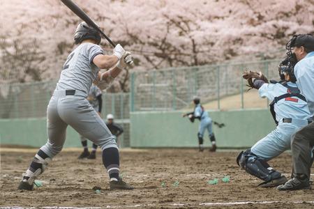 Middelbare school speler van het honkbal Stockfoto