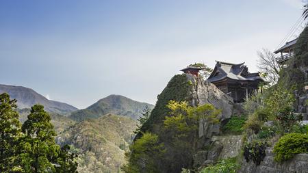 Landschap van de berg tempel Stockfoto
