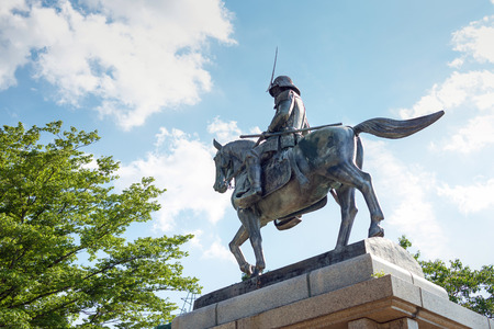 Statue of Masamune Date in Sendai castle