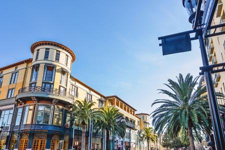 Landschap van de mooie winkelstraat in San Jose