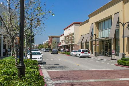 Paysage de la rue commerçante