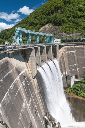 The dam which drains water off