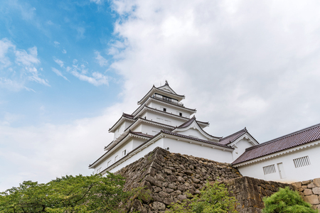The castle tower of the Aizu Wakamatsu Castle