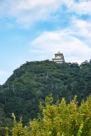 gifu: The Gifu castle which rises on the mountaintop Editorial