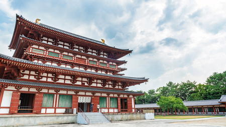 Scenery of Yakushi-ji Temple in ancient city Nara Editorial