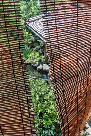 Beautiful Japanese garden over the window