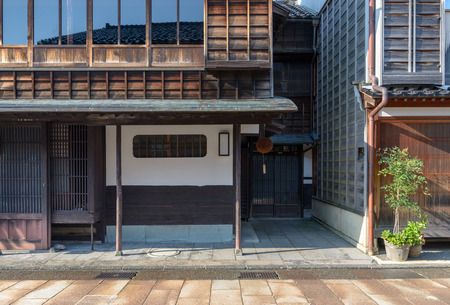 Traditional Japanese cityscape in Kanazawa, Japan Editorial
