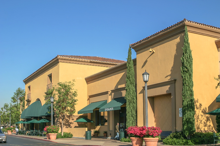 Landschap van het prachtige winkelcentrum